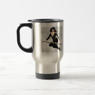 Witch with Broom  Travel Mug