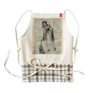 Witch With Cat Haloowen Party Gift Decoration Zazzle HEART Apron