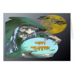 Witch with Crystal Ball Card