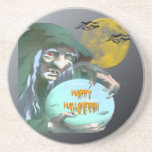 Witch with Crystal Ball Coaster