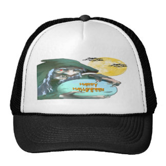 Witch with Crystal Ball Trucker Hat