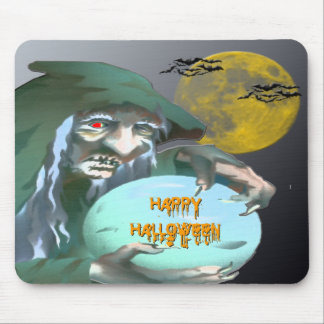 Witch with Crystal Ball Mouse Pad