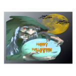 Witch with Crystal Ball Postcard