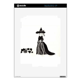 Witch With Pumpkins Skins For The iPad 2