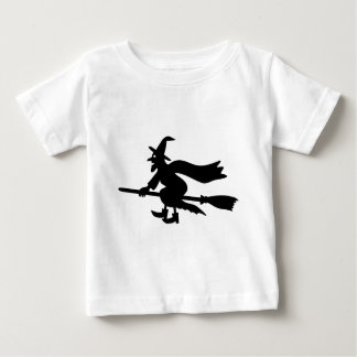 Witch with the broom flies baby T-Shirt