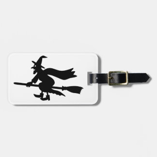 Witch with the broom flies bag tags