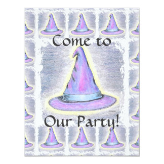 Witch Wizard Pagan Hat Children's Party Card