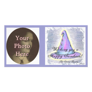 Witch Wizard Samhain Greeting  Photo Ready Card