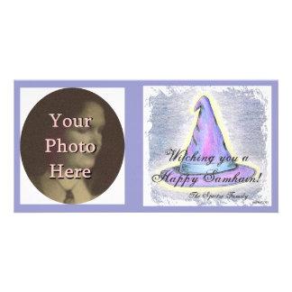 Witch Wizard Samhain Greeting  Photo Ready Card