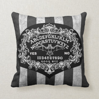 Witchboard striped pillow