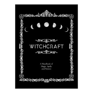 Witchcraft A Handbook of Magic Spells and Potions Poster