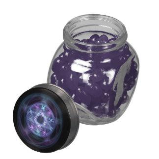 Witchcraft Blue Fire Pentagram Glass Jar