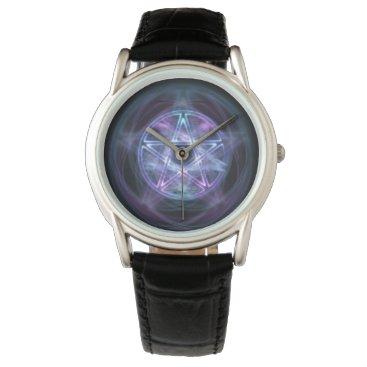 Halloween Themed Witchcraft Blue Fire Pentagram Watch