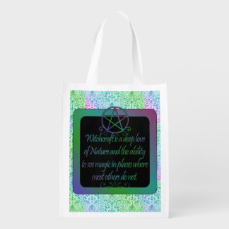 Witchcraft is, poem reusable grocery bags