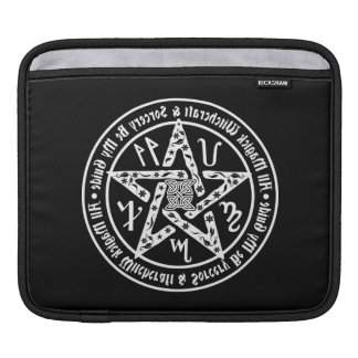 Witchcraft Mirror Writing Occult Pentacle iPad Sleeves