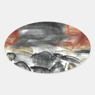 Witchcraft Oval Sticker