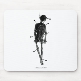Witchcraft: Skeleton Witch Doll Mouse Pad