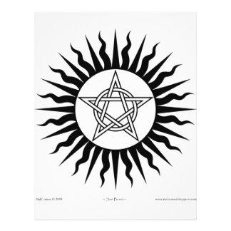 Witchcraft: Sun Burst; Pentagram circle Flyer