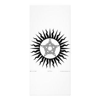 Witchcraft: Sun Burst; Pentagram circle Rack Card