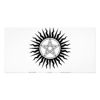 Witchcraft; Sun burst: Pentegram #2 Customized Photo Card