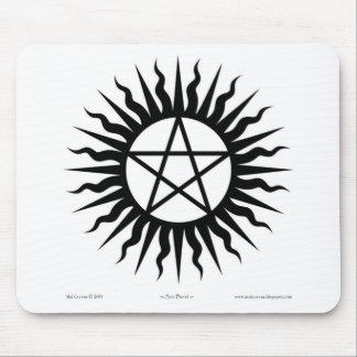 Witchcraft: Sun burst: Pentegram Mouse Pad