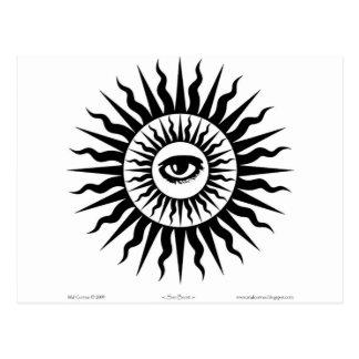 Witchcraft: Sunburst: Eye Postcard