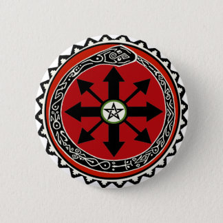 Witchcraft Symbol for Chaos Pinback Button