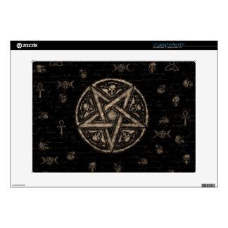 "Witchcraft symbols 15"" laptop decal"