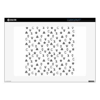 Witchcraft symbols laptop decals
