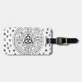 Witchcraft symbols luggage tag