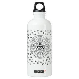 Witchcraft symbols water bottle