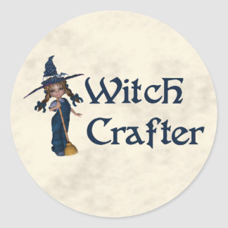Witchcrafter Classic Round Sticker