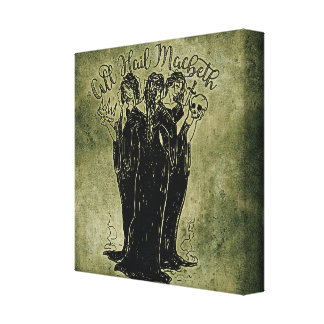 Witches All Hail Mabeth Canvas Print