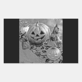 Witches and Pumpkins Rectangular Sticker