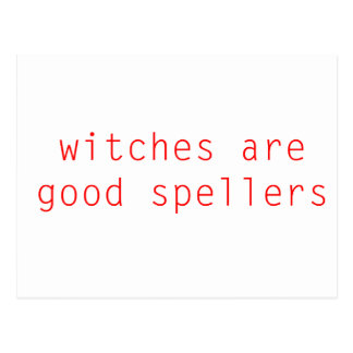 Witches Are Good Spellers Postcard