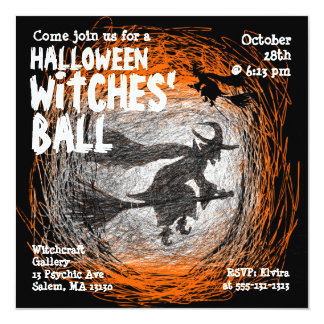 Witches Ball Halloween Party Invitation