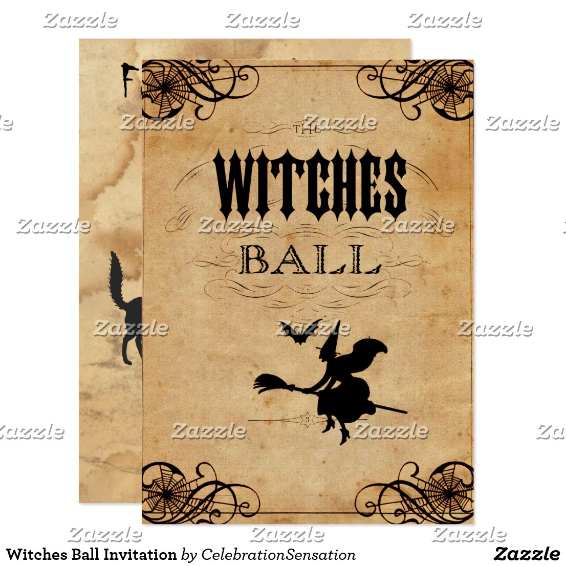 Witches Ball Invitation