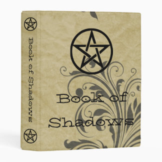Witches Book of Shadows Pentacle Old Vines Mini Binder