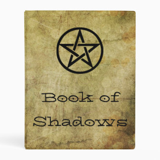 Witches Book of Shadows Pentacle Old Vintage Style Mini Binder