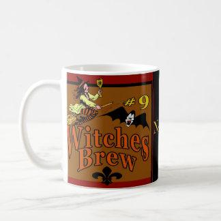 Witches Brew #9, Halloween Fleur De Lis Coffee Mugs