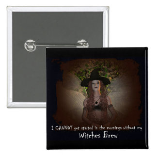 Witches Brew Pinback Button
