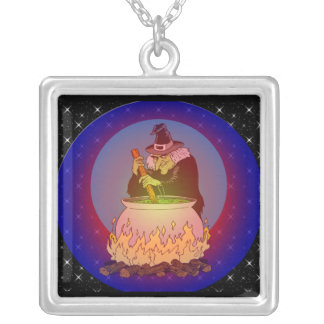 Witches Brew For You Silver Plated Necklace
