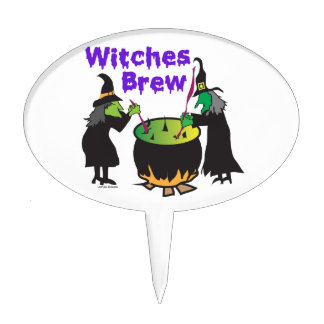 Witches Brew Gifts Cake Toppers