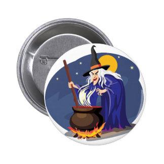 Witches Brew Halloween Button