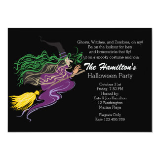 Witches Brew Halloween Night Party Personalized Invitation