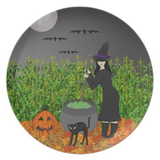 Witches Brew: Halloween Plate