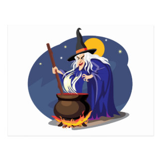 Witches Brew Halloween Postcard
