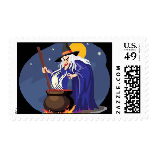 Witches Brew Halloween Stamps