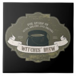 Witches Brew Halloween Tile Trivet