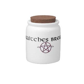 Witches Brew jar Candy Jar